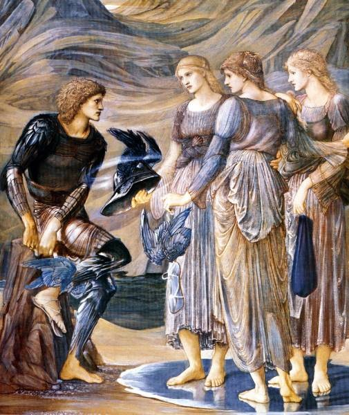 Burne Jones Perseus and the Sea Nymphs 1877